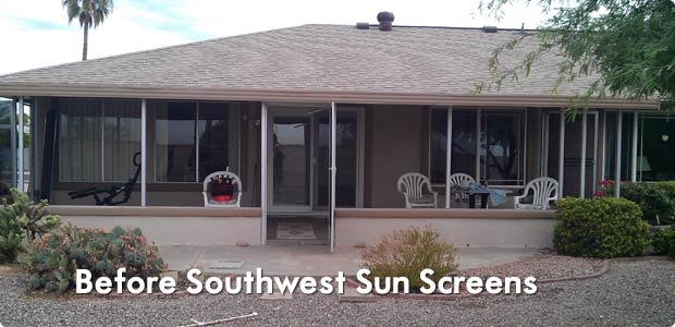Before Solar Screens in Phoenix, AZ