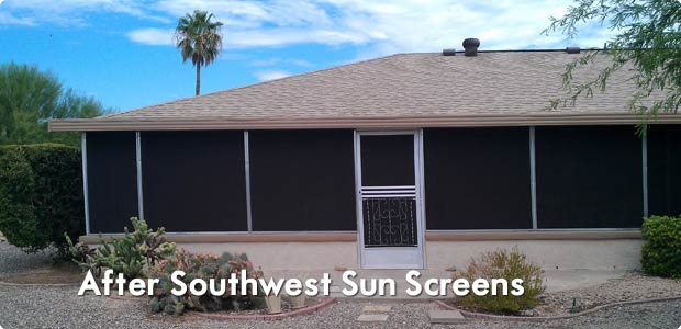 After Solar Screens in Phoenix, AZ
