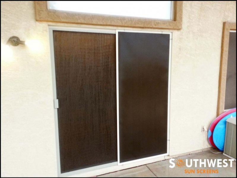 Sliding screen doors southwest sun screens for Cheap sliding screen doors