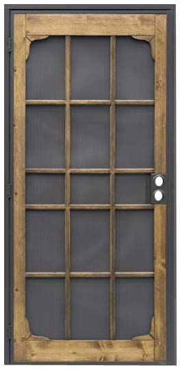 Security screen doors security screen door double for Double door screen door