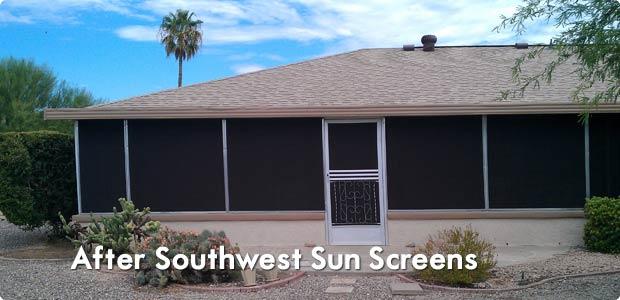 Solar Screens Security Door Installation Southwest Sun